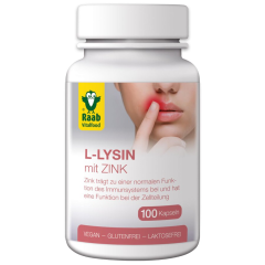 L-Lysine wth Zinc (100 capsules)