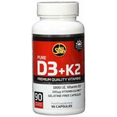 Pure D3+K2 (90 Kapseln)