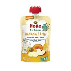 Demeter Banana Lama - Pouchy Banane, Apfel, Mango & Aprikose, ab dem 6. Monat (100g)