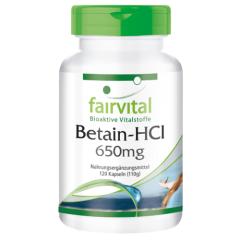 Betain HCL 650mg (120 Kapseln)