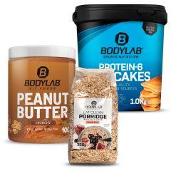 Breakfast Pack (Protein-6 Pancakes (1kg) + 100% Peanut Butter (1kg) + Eat Clean Porridge (350g))