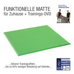 """Functional Training Bodenmatte Grün + Übungs-DVD """"Training mit dem Funktionalem Boden"""""""