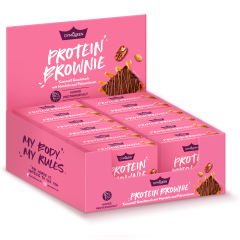 Protein Brownie - 12x50g - Karamell Geschmack mit Mandeln & Pekannüssen