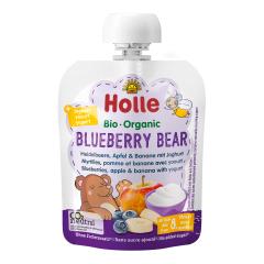 Bio Blueberry Bear - Pouchy Heidelbeere, Apfel & Banane mit Joghurt, ab dem 8. Monat (85g)