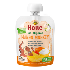 Bio Mango Monkey - Pouchy Mango mit Joghurt, ab dem 8. Monat (85g)
