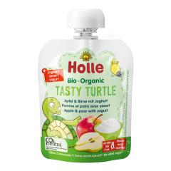 Bio Tasty Turtle - Pouchy Apfel & Birne mit Joghurt, ab dem 8. Monat (85g)