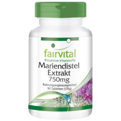 Mariendistel Extrakt 750mg (90 Tabletten)