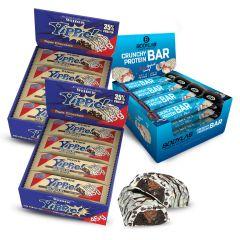 2 x Weider YIPPIE! Bar Triple Chocolate (12x45g) + 1 x Bodylab24 Crunchy Protein Bar (12x64g)