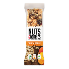 Crunchy Nut Bar Organic Cashew Apricot (15x30g)