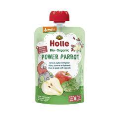 Demeter Power Parrot - Pouchy Birne mit Apfel & Spinat, ab dem 6. Monat (100g)