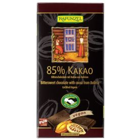 Bitterschokolade 85% Kakao bio (80g)