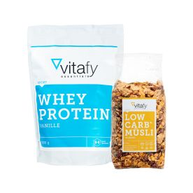 Whey Protein Essentials (1000g) + Low Carb Müsli (525g)