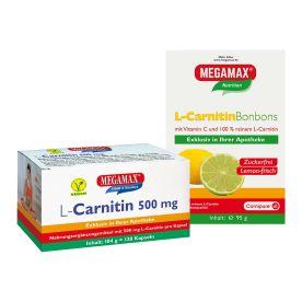 L-Carnitin 500mg (120 Kapseln) + L-Carnitin Bonbons (95g)
