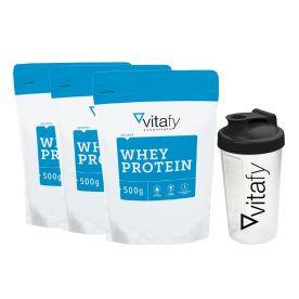 3 x Whey Protein + Shaker (600ml)