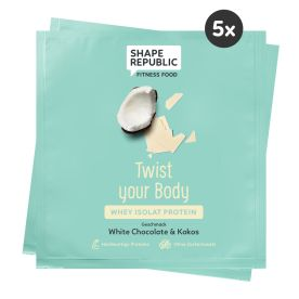5 x Whey Isolat Protein White Chocolate & Coco »Twist your Body« to go (5x30g)