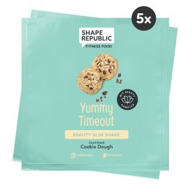 5 x Beauty Slim Shake Cookie Dough »Yummy Timeout« to go (5x30g)