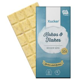 Kokos & Flakes Weiße Schokolade (100g)