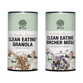 "Clean Eating Bircher Blaubeere & Mandel ""by Nadia Damaso"" (350g) + Clean Eating Granola Mohn & Quinoa ""by Nadia Damaso"" bio (350g)"
