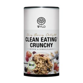 "Bio Clean Eating* Crunchy Beeren & Dinkelflakes ""Very Berry Delight"" (350g) - MHD 01.06.2019"