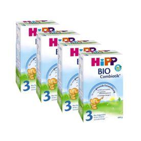 喜宝有机益生菌婴幼儿奶粉3段 600克,4盒装 4x Hipp BIO Combiotik Folgemilch 3 (600g)