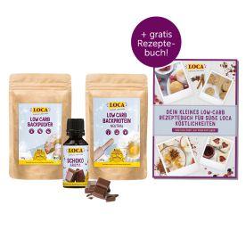LOCA süßes Backpaket + Gratis Low-Carb Rezeptebuch