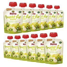 12 x Bio-Pouchy ab dem 8. Monat Birne & Banane mit Kiwi (12x90g)