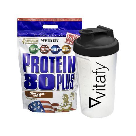 Protein 80 Plus (500g) + Vitafy Shaker (600ml)