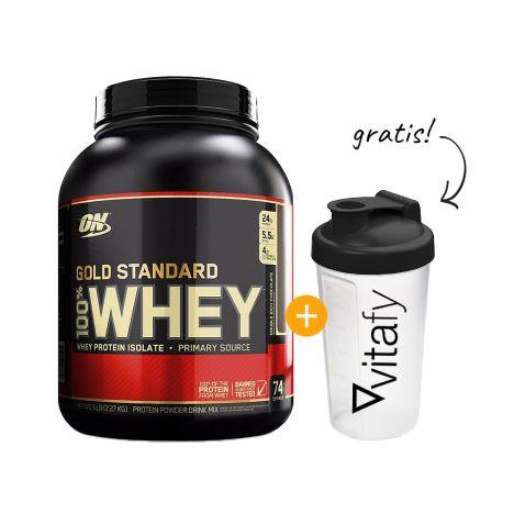 100% Whey Gold Standard (2273g) + Vitafy Shaker (600ml) Gratis!