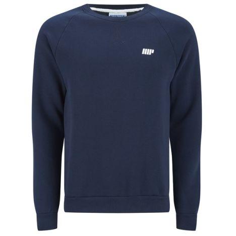 Herren Crew Neck Sweatshirt Navy