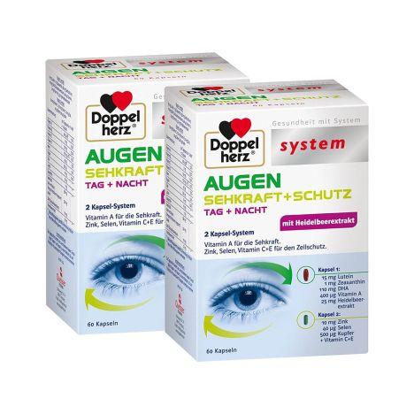 2 x Augen Sehkraft + Schutz (2x60 Kapseln)