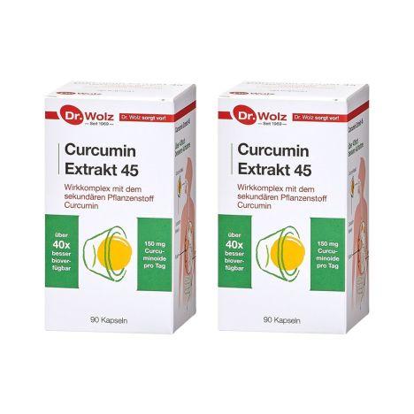 2 x Curcumin Extrakt 45 (2x90 Kapseln)