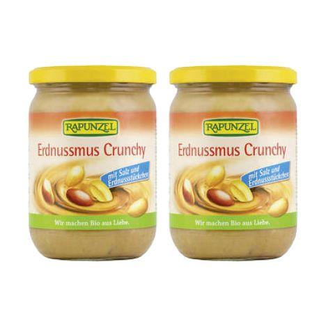 2 x Erdnussmus Crunchy mit Salz (2x500g)