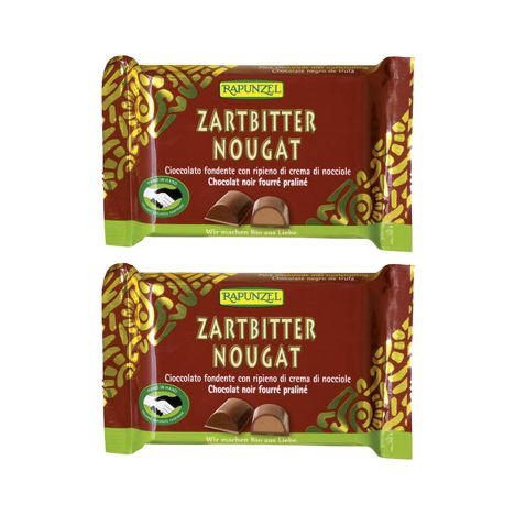 2 x Nougat Zartbitter (2x100g)