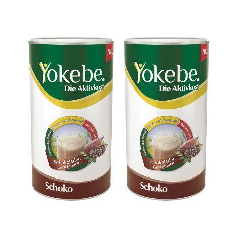 2 x Yokebe Aktivkost Schoko Pulver (2x500g)