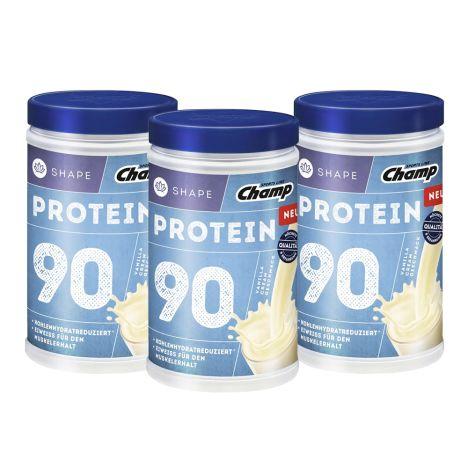 3 x Shape Protein 90 Shake - Vanilla Cream (3x390g)