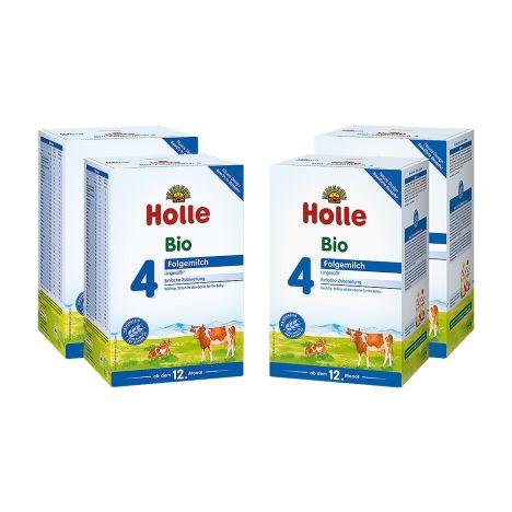 4x Holle Bio-Folgemilch 4 ab dem 12. Monat (4x600g)