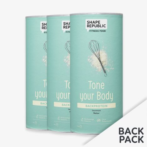 3 x Backprotein Natur »Tone your Body« (3x420g)