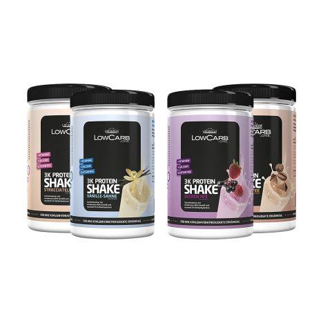 4 x LowCarb one. 3K Protein-Shake mixed bundle (4x360g)