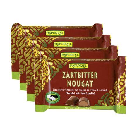 4 x Nougat Zartbitter (4x100g)
