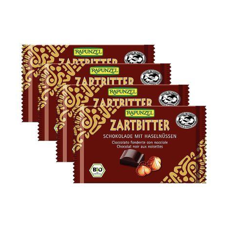 4 x Zartbitter Schokolade 60% mit Nüssen (4x100g)