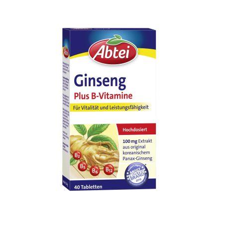 Ginseng Plus B-Vitamine (40 Tabletten)