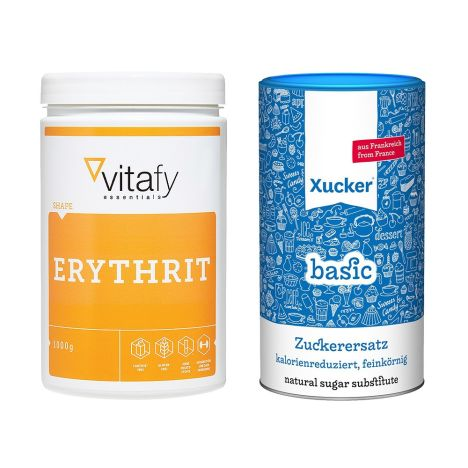 Xucker Basic FR (1000g) + Vitafy Essentials Erythrit (1000g)