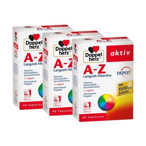 3 x A-Z Langzeit Vitamine Depot (3x40 Tabletten)