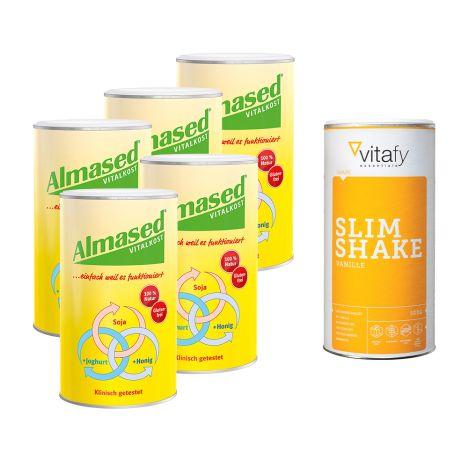 5x Almased (5x500g) + 1 x Vitafy Essentials Slim Shake (500g)