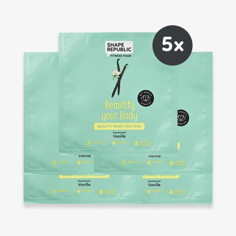 5 x Beauty Whey Protein Vanille »Beautify your Body« to go (5x30g)