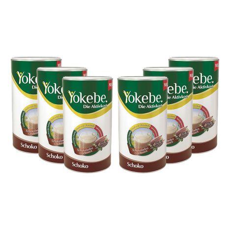 6 x Yokebe Aktivkost Schoko Pulver (6x500g)