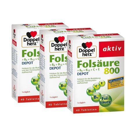 3 x Folsäure Depot (3x40 Tabletten)