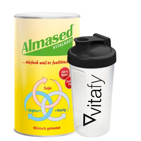 Vitalkost Pulver Almased (500g) + GRATIS Vitafy Shaker (600ml)