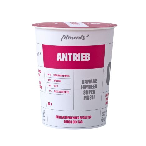 "Low Fat Protein-Müsli ""Antrieb"" Himbeer-Banane (90g)"