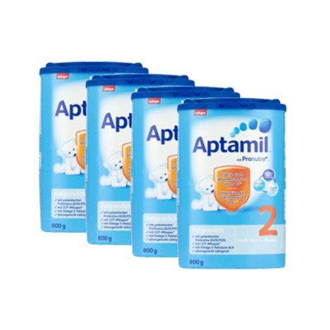 4x Aptamil Pronutra 2 Milchnahrung (800g)